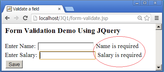 Simple Form Validation Example Using Jquery Ezeon Training